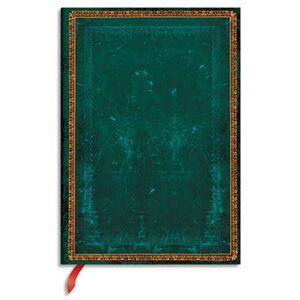 Paperblanks Carnet Paperblanks - reliure classique à l'ancienne Viridian - 13 x 18 cm - 144 pages - ligné - vert - Publicité