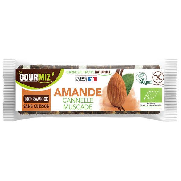 Gourmiz Barre crue et bio Amandes - Cannelle - Muscade - 3 barres de 35g