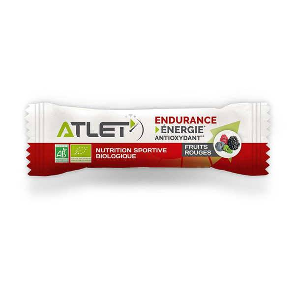 Atlet Barre endurance bio aux Fruits Rouges - Une barre 25g