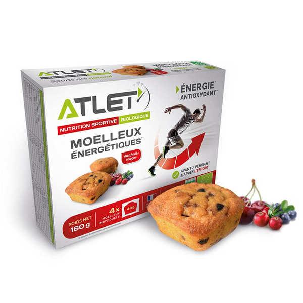 Atlet Moelleux énergétique bio aux fruits rouges - Boite de 4 moelleux de 40g chacun