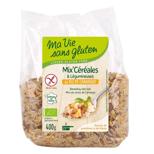 Ma vie sans gluten Mix céréales & légumineuses au riz de Camargue bio sans gluten - Sachet 400g