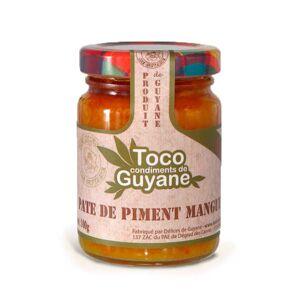 Délices de Guyane Pâte de piment à la mangue - Bocal 100g - Publicité
