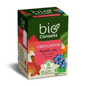 Bio Conseils Infusion circulation Bio (Vigne rouge, myrtille) - Boîte 20 sachets - Publicité