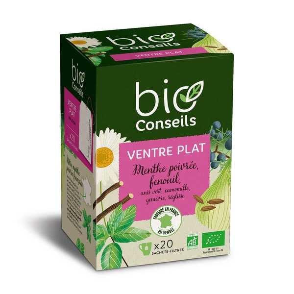 Bio Conseils Infusion Ventre Plat Bio (menthe poivrée, fenouil...) - Lot de 5 boîtes 20 sachets