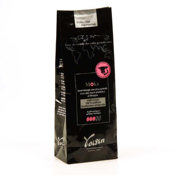 Voisin chocolatier torréfacteur Café moulu Moka 100% Arabica - Force 3/5 - Sachet 250g