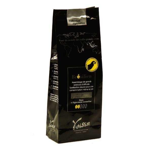 Voisin chocolatier torréfacteur Café moulu - goût brésilien - 100% Arabica - Force 2/5 - Sachet 250g
