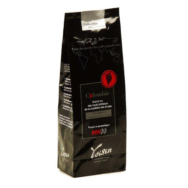 Voisin chocolatier torréfacteur Café moulu - Colombie - 100% Arabica - Force 3/5 - Sachet 250g