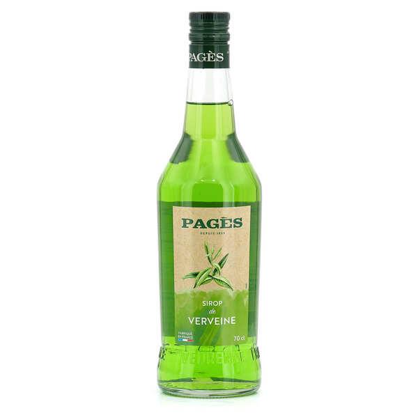 Distillerie Pagès Sirop de verveine Pagès (sans alcool) - Bouteille 70cl