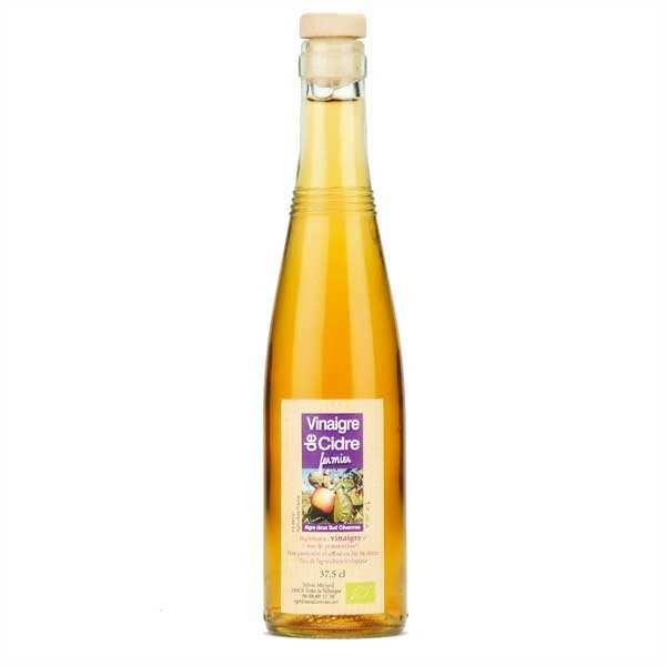 Aigre-doux Sud Cévennes Vinaigre artisanal de cidre bio sans sulfite - Lot de 6 bouteilles de 37.5cl