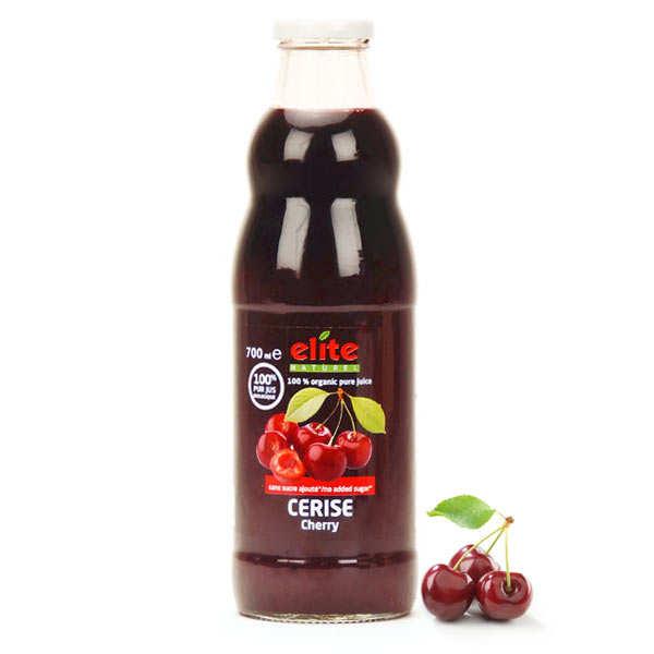 Elitegroup Pur jus de cerise bio (80% de griottes) - Lot 3 bouteilles de 70cl