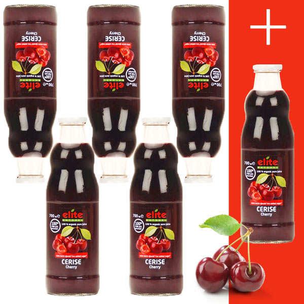 Elitegroup Pur jus de cerise bio (80% de griottes) 5+1 offert - 5 bouteilles de 70cl + 1 offerte