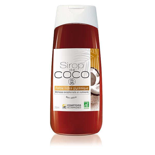 Comptoirs et Compagnies Sirop de coco liquide bio - Lot 3 flacons souples de 250 ml