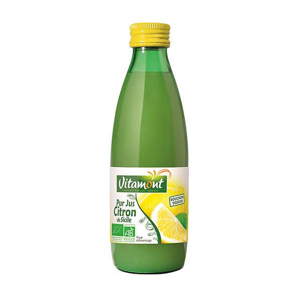 Vitamont Pur jus de citron bio - 6 bouteilles de 25cl
