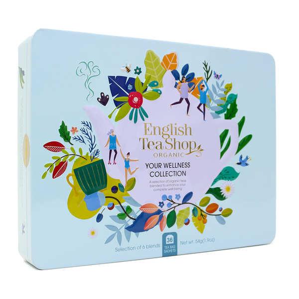 English Tea Shop Coffret de thé bio bien-être - 36 sachets 6 parfums - Coffret 36 sachets