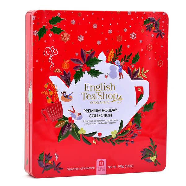 English Tea Shop Coffret de thé bio de Noël - 72 sachets 9 parfums - Coffret 72 sachets