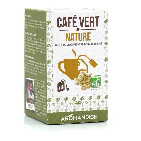 Aromandise Café vert en sachet bio - Lot de 3 boites - 20 sachets de 3g