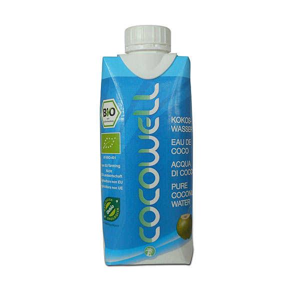 Cocowell Eau de coco bio - 100% eau de coco - Tetra pack 330ml