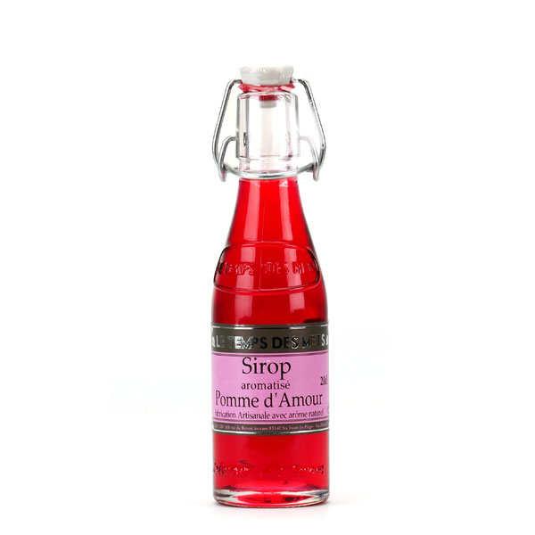 Le Temps des Mets Sirop pomme d'amour - Lot de 4 bouteilles 20cl