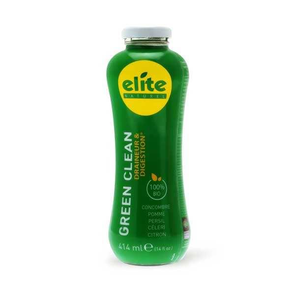 Elitegroup Jus detox Green Clean bio équitable - Concombre, persil, pomme, céleri, citron - Bouteille 414ml