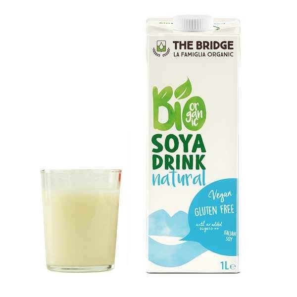 The Bridge Bio Boisson au soja bio et sans gluten - 12 briques de 1L