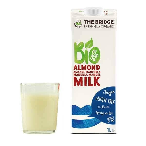 The Bridge Bio Lait d'amande bio et sans gluten - Brique 1L