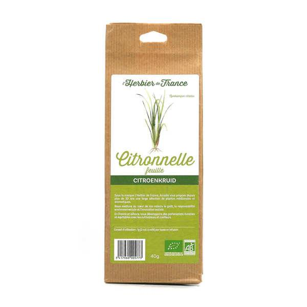 Cook - Herbier de France Infusion de citronnelle en feuilles bio - 6 sachets 40g