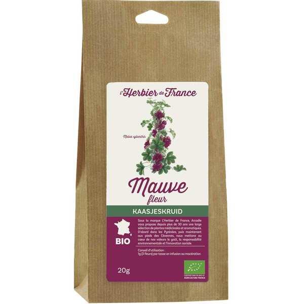 Cook - Herbier de France Infusion de fleurs de mauve bio - Sachet 20g