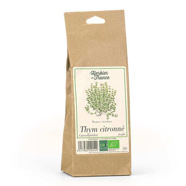 Cook - Herbier de France Infusion de thym citronné en feuilles bio - Sachet 50g