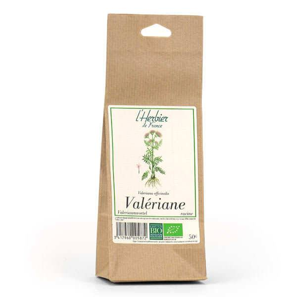 Cook - Herbier de France Infusion de racine de valériane bio - Lot de 4 sachets 50g