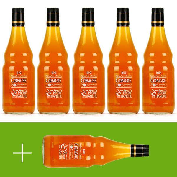Verger de la Hanère Vinaigre de cidre bio - La Hanère - 5 + 1 offert - 5 bouteilles de 75cl + 1 offerte