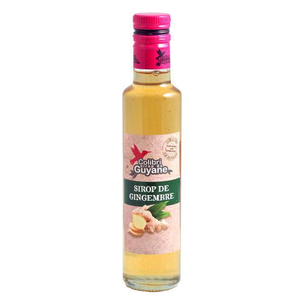 Délices de Guyane Sirop de gingembre de Guyane - Lot de 3 bouteilles 25cl