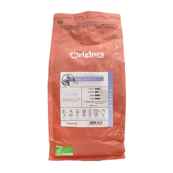 Origines Tea and Coffee Café bio - L'Onctueux - Sachet 1kg - café en grains
