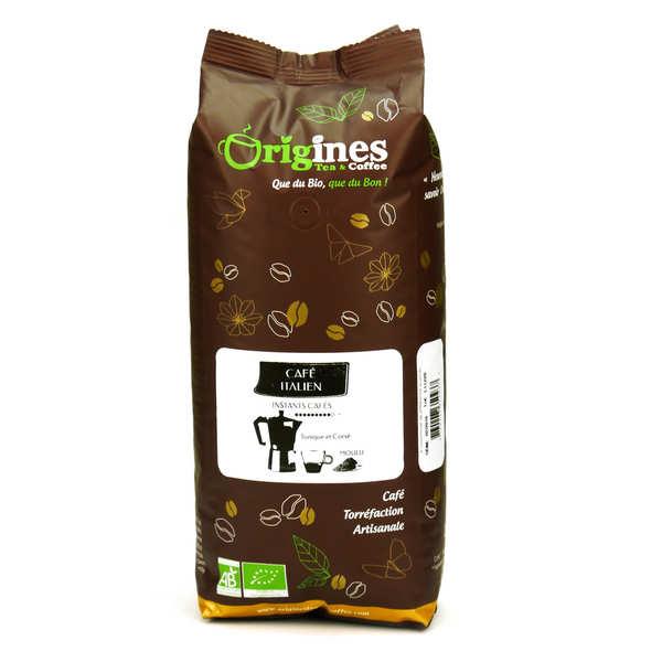 Origines Tea and Coffee Café bio - Italien - Sachet 1kg - café en grains