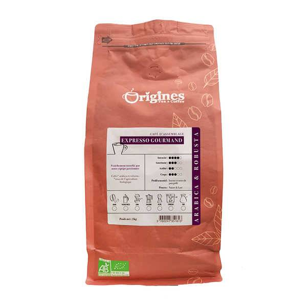 Origines Tea and Coffee Café en grains bio - Expresso Gourmand - Sachet 1kg