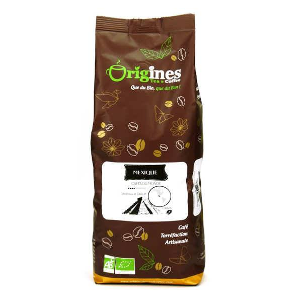 Origines Tea and Coffee Café en grains bio - Mexique - Sachet 1kg