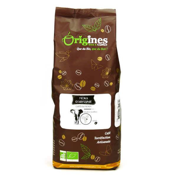 Origines Tea and Coffee Café en grains bio - Moka d'Abyssinie - Sachet 1kg