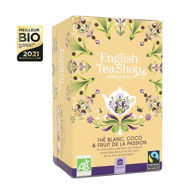 English Tea Shop Thé blanc coco passion bio en sachets - Boite 20 infusettes