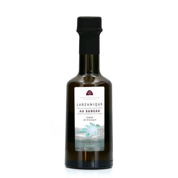 Aromatiques du Larzac - Ferme des Homs Vinaigre larzamique à la fleur de sureau - Bouteille 25cl
