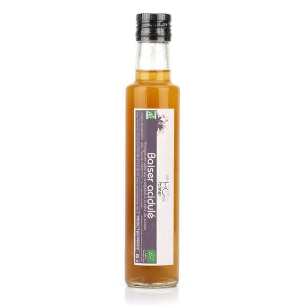 My home farmer Vinaigre de cidre bio aromatisé à la fleur de sureau - Baiser acidulé - Bouteille 25cl