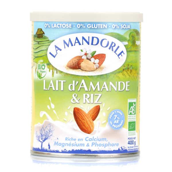 La Mandorle Lait d'amande et riz en poudre bio - Boîte 400g
