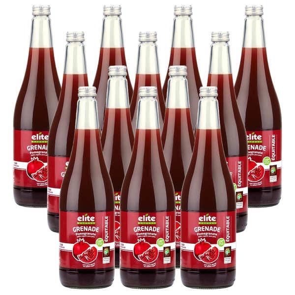 Elitegroup Pur jus de grenade bio offre promo 12 x 1L - Lot de 12 bouteilles de 1L