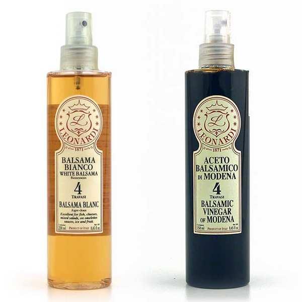 Vinaigrerie Leonardi Duo de vinaigres balsamiques d'exception en spray - 2 bouteilles de 250ml