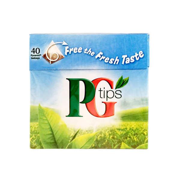 PG tips Thé noir anglais PG en sachets - Boîte de 40 sachets