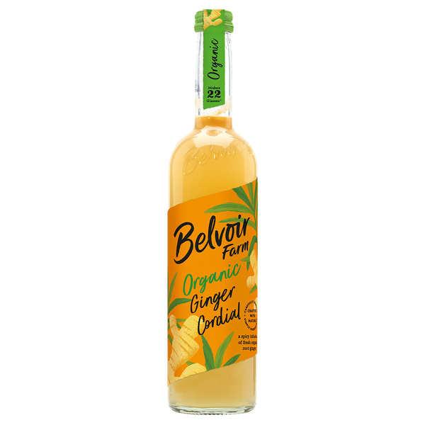 Belvoir Sirop artisanal bio au gingembre - Bouteille verre 50cl