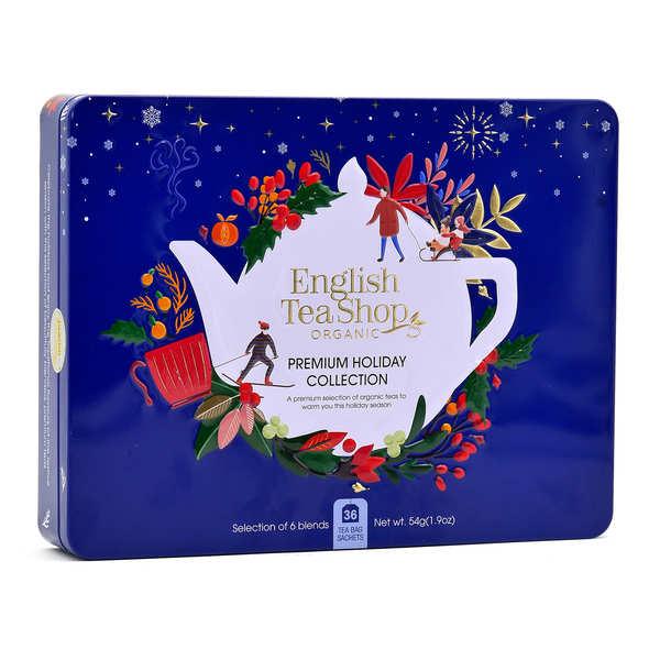 English Tea Shop Coffret de 36 sachets de thé bio d'hiver  collection Holiday - Coffret métal 36 sachets