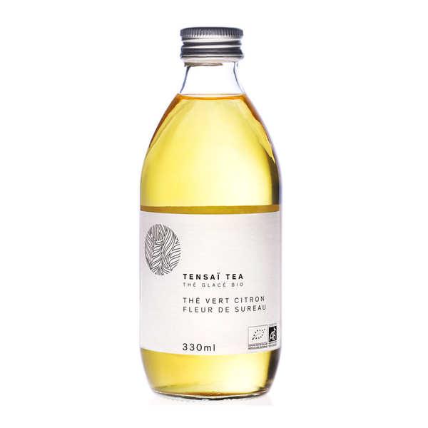 Tensaï Tea Thé glacé bio Tensaï - thé vert, citron, fleur de sureau - Bouteille verre 33cl