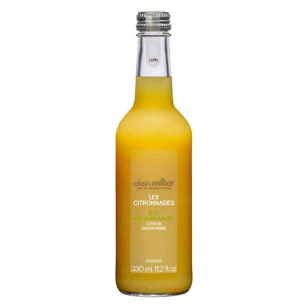 Alain Milliat Citronnade bio citron gingembre - Alain Milliat - 3 bouteilles de 33cl