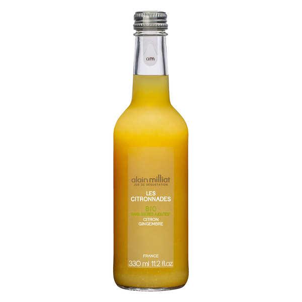 Alain Milliat Citronnade bio citron gingembre - Alain Milliat - Bouteille 33cl