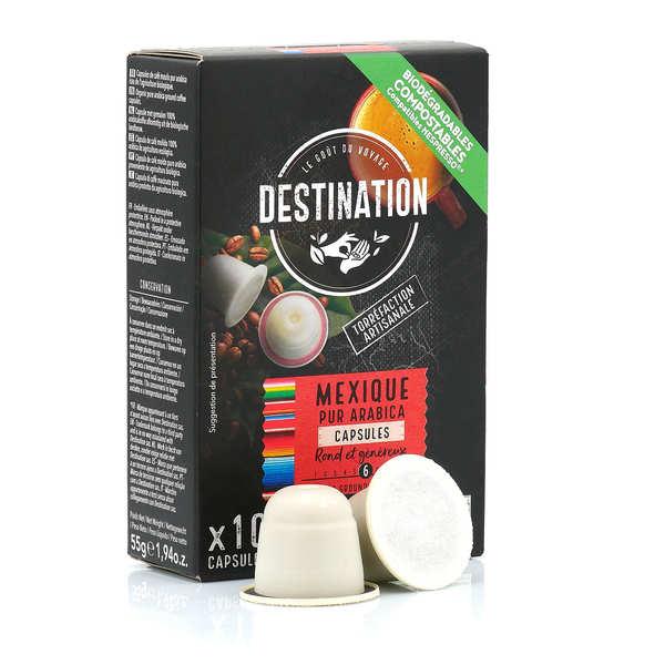 Origines Tea and Coffee Café bio Mexique, capsules compatibles Nespresso® - Force 6/10 - Boîte 10 capsules