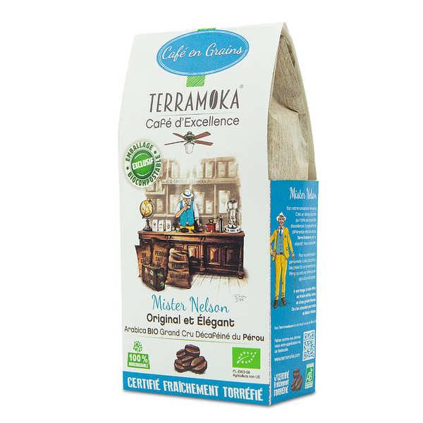 Terra Moka Nelson - café Arabica du pérou décaféiné et bio en grains - Sachet 200g